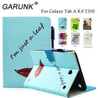 [globalbuy] Case for Samsung Galaxy Tab A 8.0 T350 T351 T355, GARUNK Leather Stand Card Ho/5189207