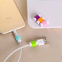 [globalbuy] 10 Piece FFFAS Mini Cute Silicone USB Cable Protector Plastic Cord Protection /5345875