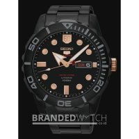 Jam Tangan Seiko 5 SRPA33K1 Sports Automatic Black Rose Gold