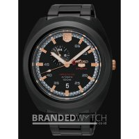 Jam Tangan Seiko 5 SSA315k1 Sports Automatic Black Rose Gold