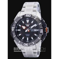 Jam Tangan Seiko 5 Sports SRP795K1 Automatic 24 Jewels Silver Black