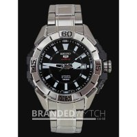 Jam Tangan Seiko 5 Sports SRP793K1 Automatic 24 Jewels Full Silver Bla