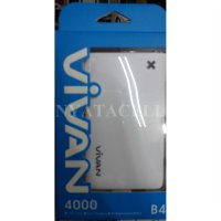 Powerbank Slim Vivan B4 4000mAh / Power Bank 4000 mAh Original