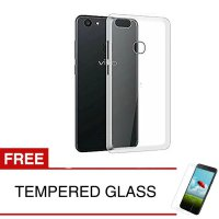 Case for Vivo V7+ / V7 Plus / Y79 - Clear + Gratis Tempered Glass - Ultra Thin Soft Case