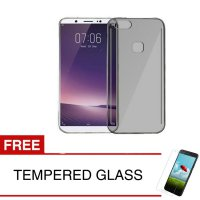 Case for Vivo V7+ / V7 Plus / Y79 - Abu-abu + Gratis Tempered Glass - Ultra Thin Soft Case
