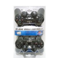 Gamepad Double Hitam E-Smile PC Dual Shock Controller USB