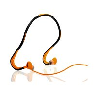 Remax Sports Wired Headset 3.5mm With Mic + Remote (S15) - Orange