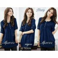 Baju Wanita,Baju Fashion,Atasan Blouse Mp0264 - Navy