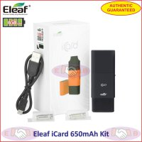 Eleaf iCard 650mAh Vaporizer / Rokok Elektrik Mini Kit Authentic - Black