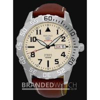 Jam Tangan Original Seiko 5 Sports SRP757 Automatic Brown Silver Beige