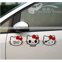 Stiker Mobil Hello Kitty Skull Set