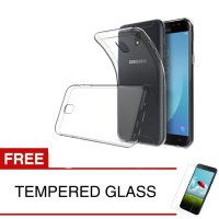 Case for Samsung Galaxy J5 Pro 2017 / J530 - Clear + Gratis Tempered Glass - Ultra Thin Soft Case