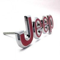 Emblem Racing Grill Mobil Jeep Racing Merah
