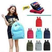 Korean Style Solid Color Backpack in 7 colors / Tas Ransel
