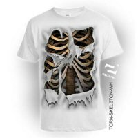 Kaos 3D Torn Skeleton Dewasa Limited Edition