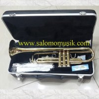 Trumpet ostrava gold + stand terompet