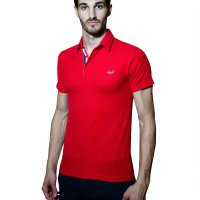 Paxton London Polo Shirt Pria Red Classic