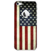 [holiczone] Cellet U.S. Flag Front and Back Skin for iPhone 5 - Red/White/Blue/182368