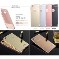 Oppo R7 - R7 Lite Luxury Mirror Bumper Case Casing Cover