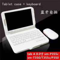 [globalbuy] For Samsung GALAXY Tab A 8.0 T350 T351 T355 P350 P355 Removable Bluetooth Keyb/5357499