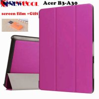 [globalbuy] Ultra Slim Flip Cover for Acer Iconia One 10 B3-A30 funda cases Protective Sta/4158972