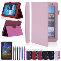 [globalbuy] Folio PU Leather Holder Case Cover Stand For Samsung Galaxy Tab 2 7.0 7/// Tab/4158630