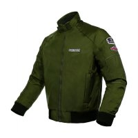 INVENTZO WIREFORM Army Green - Jaket Motor Bomber Retro Tahan Angin