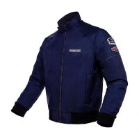 INVENTZO WIREFORM Navy Blue - Jaket Motor Bomber Retro Tahan Angin