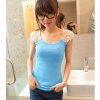 Cotton Slim Lace Camisol Crochet Tank Top Korea Wanita Renda Import