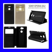 Sony Xperia XA2 - Roar Noble Window Leather Case Casing Cover