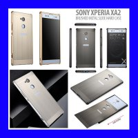 Sony Xperia XA2 - Brushed Metal Slide Hard Case Casing Cover