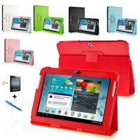 [globalbuy] For Samsung Galaxy Tab 2 10.1 inch P5100 Tablet PU Leather Case Cover For Samu/5516847