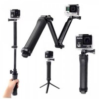 Monopod Tongsis 3 Way Tripod for Action cam