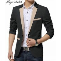 Blazer Combo Black Katun Stretch