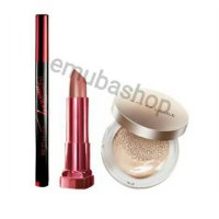 Paket MAYBELLINE Wing It All Line of Drama HyperSharp Power Black Eyeliner Rosy Matte Lipstick