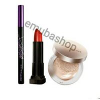 Paket MAYBELLINE Wing It All Adelle Wings HyperSharp Eyeliner Vivid Matte Lipstick Super BB Cushion