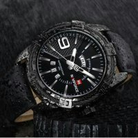 Naviforce Militery NF9117 Leather Black Original Water Proof