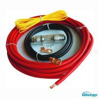 [globalbuy] Copper Car Audio DIY Power Supply Cable Kit for Auto Amplifier Active Sub-woof/4973608
