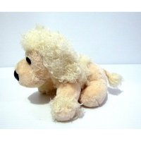 Boneka Anjing Pudel White Poodle Dog Import Doll