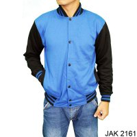 Baseball Jacket Fleece Biru – JAK 2161