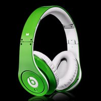 headset headphone earphone monster beats dr dre STUDIO GREEN OEM AA++