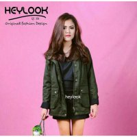 ORIGINAL SIMPLE PARKA HEYLOOK ARMY JAKET BOMBER WANITA OUTWEAR BLAZER