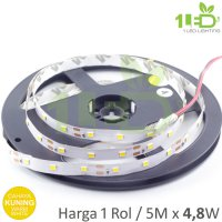 Lampu LED Strip Flexible Kuning Roll 5 Meter 4,8W IP33 SMD 2835