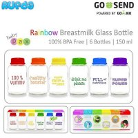 (Limited Offer) BabyPax Rainbow Botol ASI Kaca