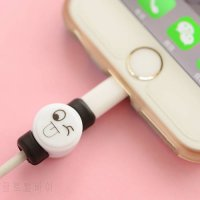 [globalbuy] 2 Pieces Kawaii Expression Brow Cable Protector Organizer USB Cable Winder Cov/5345690