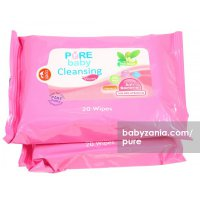 Pure Baby Cleansing Wipes Tea Olive 20's Buy 1 Get 2