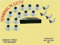 PAKET CCTV 16 CHANNEL AHD 3MP LENGKAP TINGGAL PASANG