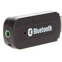 [globalbuy] Portable USB Bluetooth Audio Music Receiver Wireless Adapter 3.5mm USB Black W/3693134