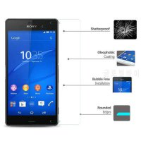 [globalbuy] 0.3mm 2.5D Tempered Glass For Sony M2 M5 T2 T3 C3 C4 C5 C6 Z L36H Z1 L39H Clea/4990082