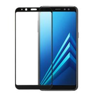 Vivan for Samsung A8 2.5D Border Glue Full Screen Tempered Glass Phone Screen Protector Black